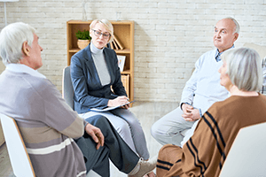 Physician Consulting Senior Patients